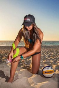 Knee Taping Volleyball